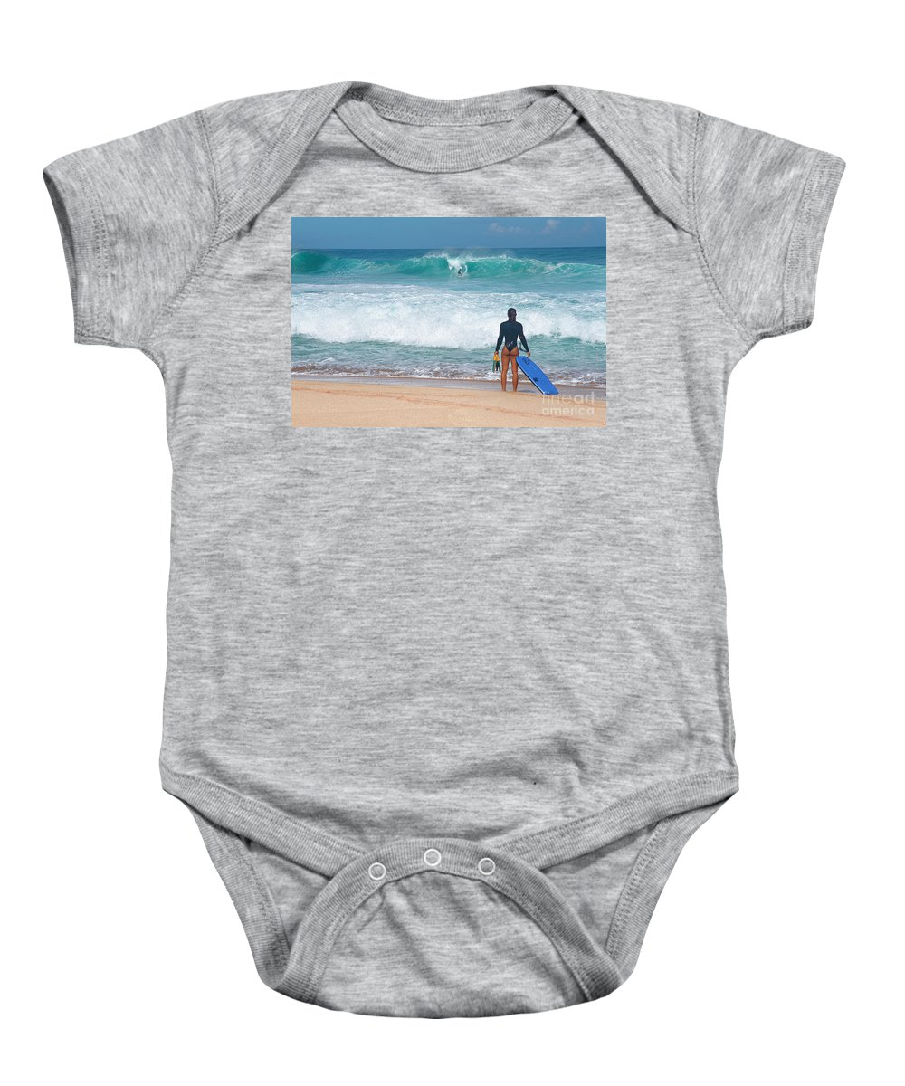 Banzai Pipeline Baby Onesie featuring the photograph Banzai Pipeline Aqua Dream by Aloha Art