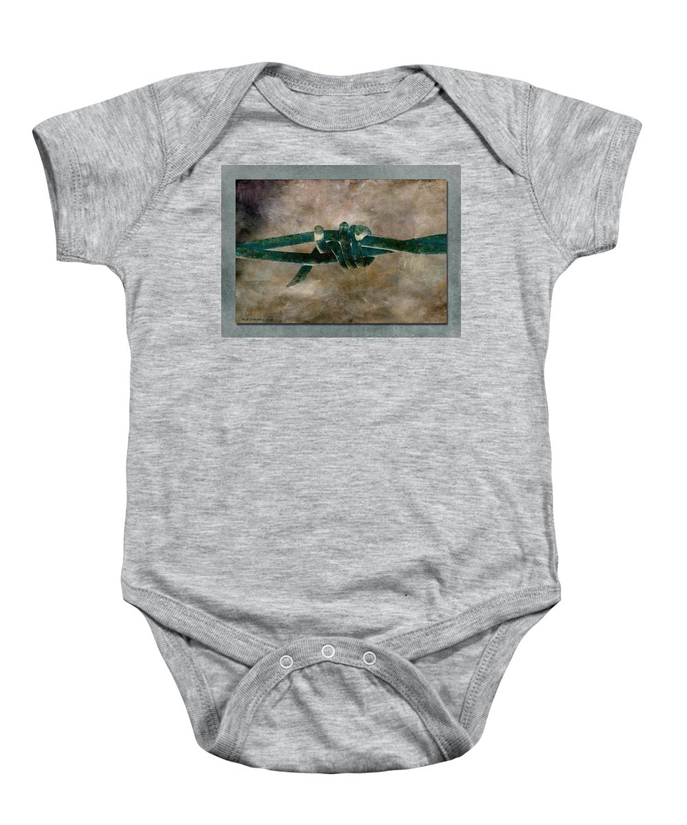Barbed Wire Baby Onesie featuring the photograph Barbed by WB Johnston