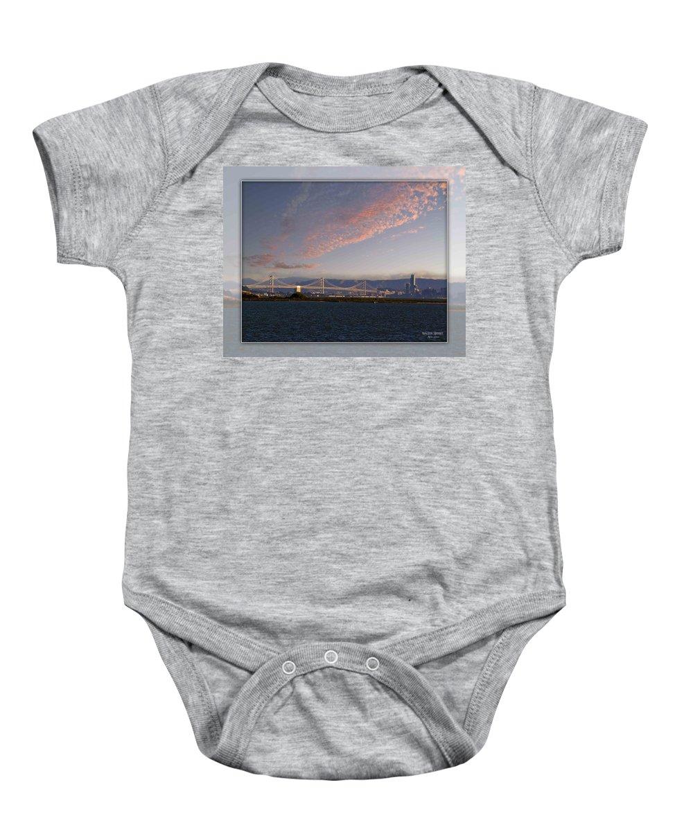 Bay Bridge Baby Onesie featuring the photograph Bay Bridge by Walter Herrit