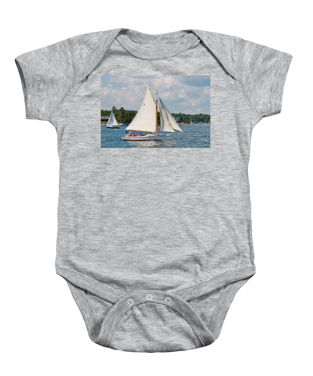 Boat Baby Onesie featuring the photograph Bay Lady 1270 by Guy Whiteley