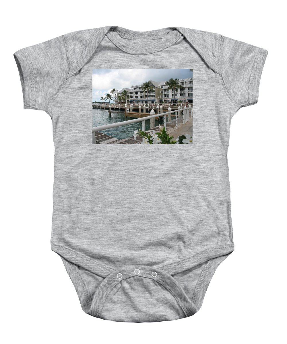 Bayfornt Baby Onesie featuring the photograph Bayfront Key West II by Christiane Schulze Art And Photography