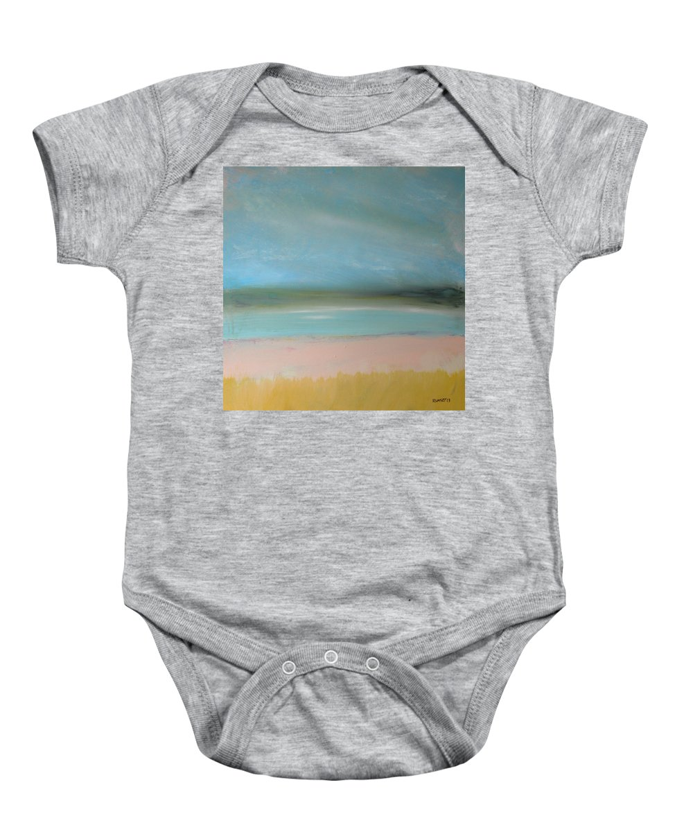 Beach Baby Onesie featuring the painting Beach 2 by Rhodes Rumsey