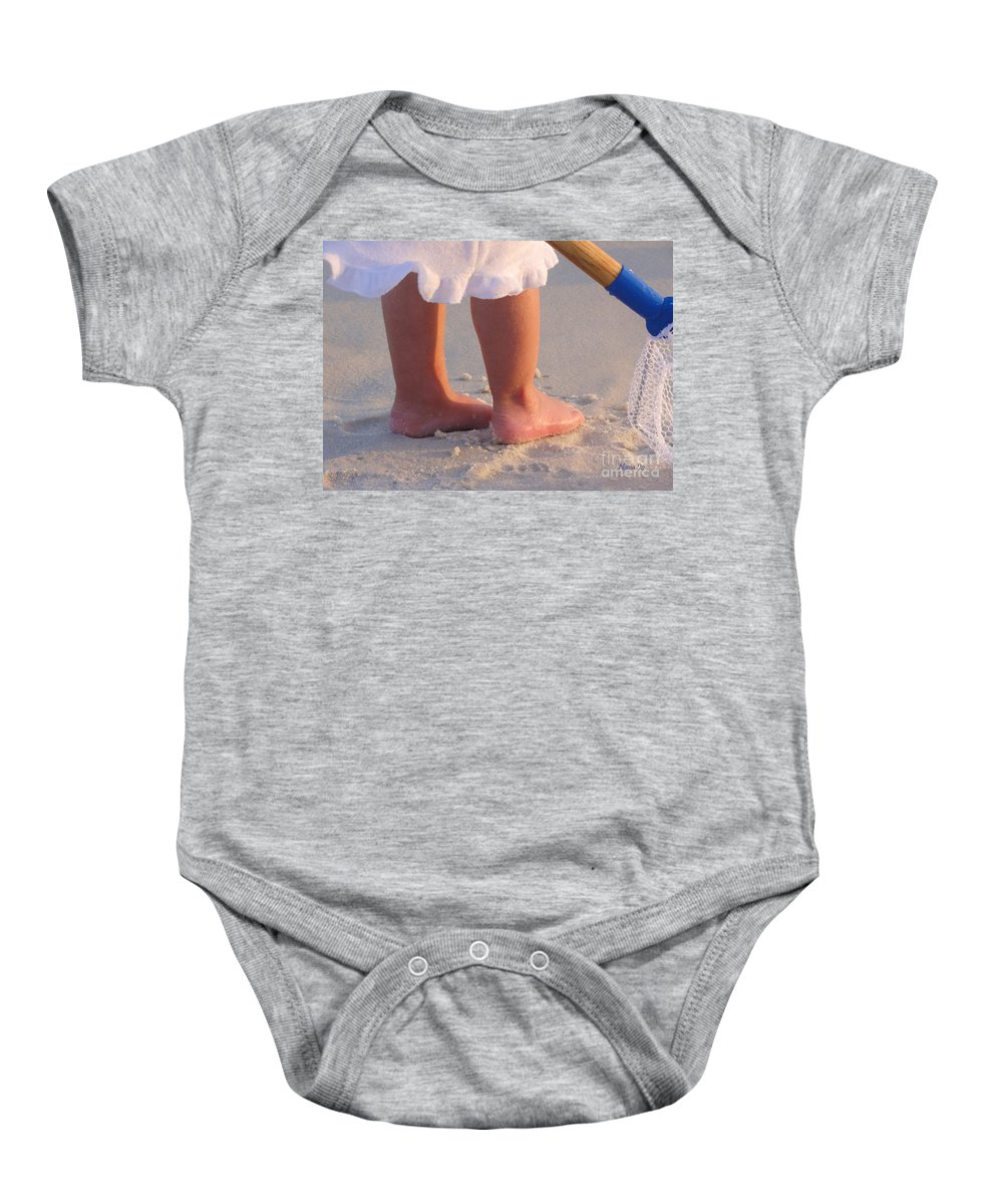 Beach Baby Onesie featuring the photograph Beach Feet by Nava Thompson