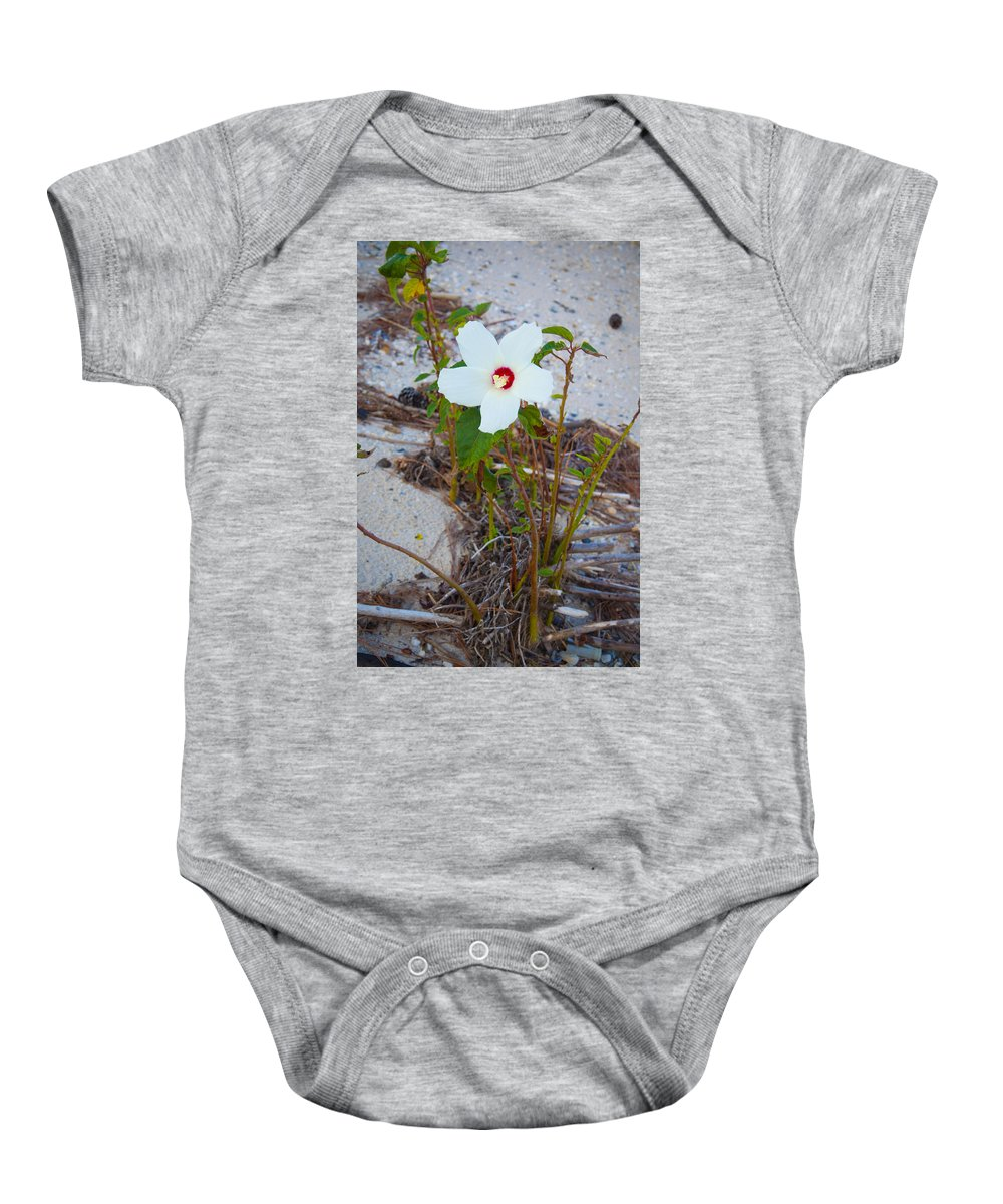 Beach Baby Onesie featuring the photograph Beach Flower by Bill Cannon