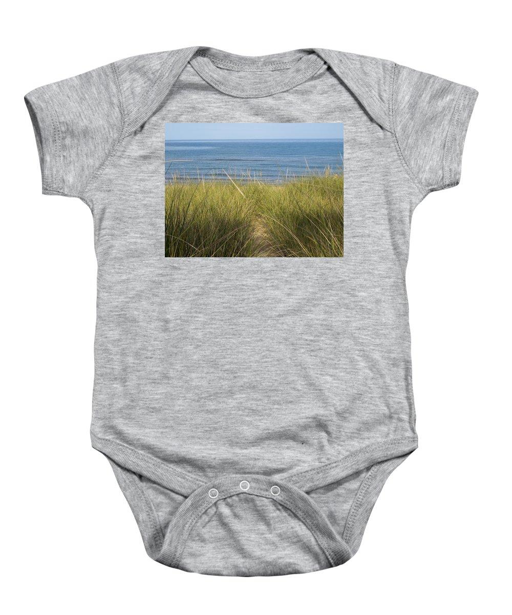 Beach Baby Onesie featuring the photograph Beach Grass by Tara Lynn