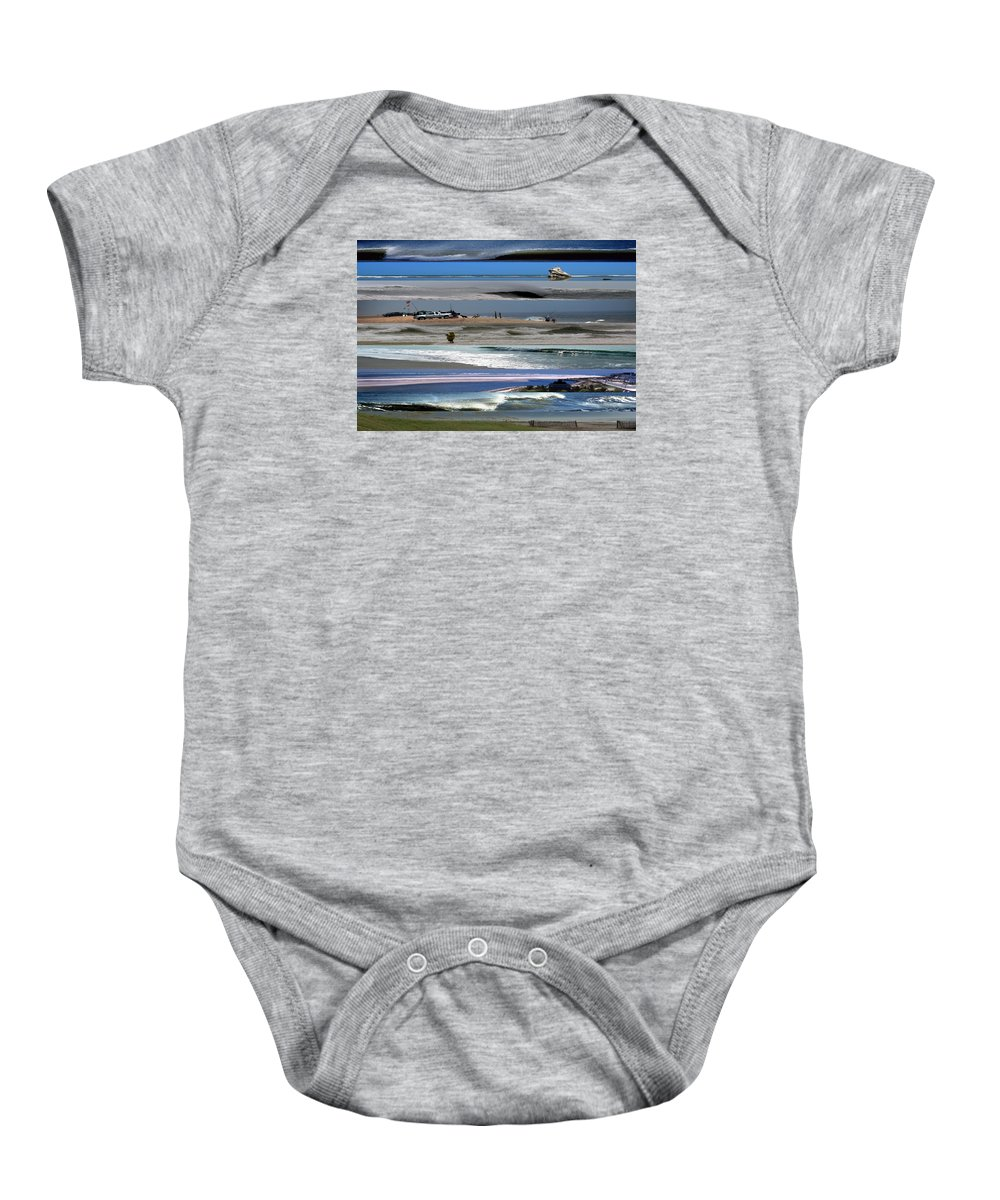 Cenic Scenic America Baby Onesie featuring the photograph Beaches by Skip Willits