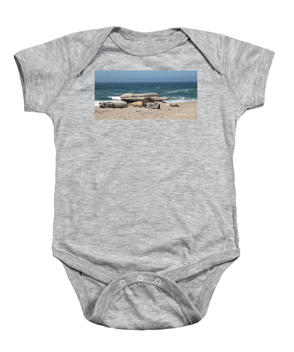 California Baby Onesie featuring the photograph Beachy by Amanda Barcon