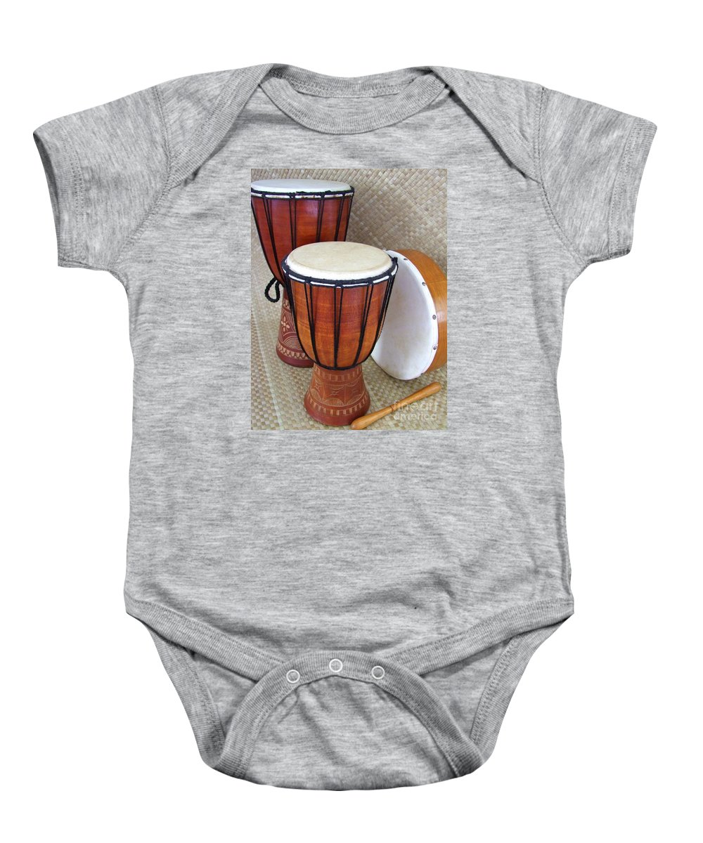 Drums Baby Onesie featuring the photograph Beat It by Mary Deal