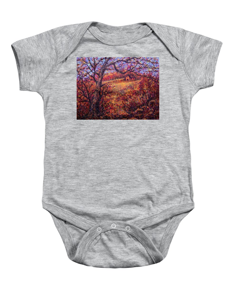 Autumn Baby Onesie featuring the painting Beautiful Autumn by Natalie Holland