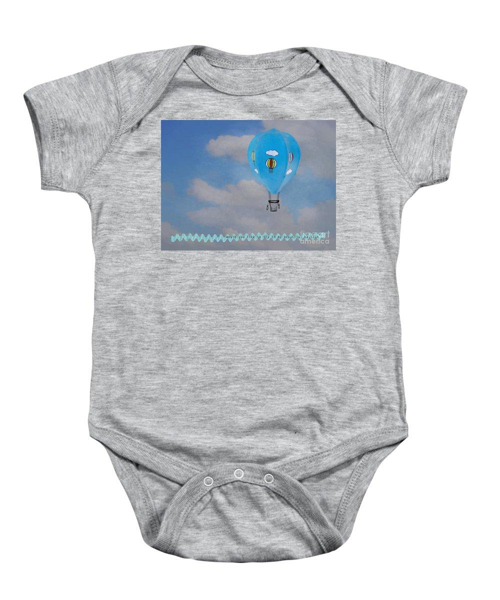 Beautiful Baby Onesie featuring the photograph Beautiful Balloon by Gillian Singleton