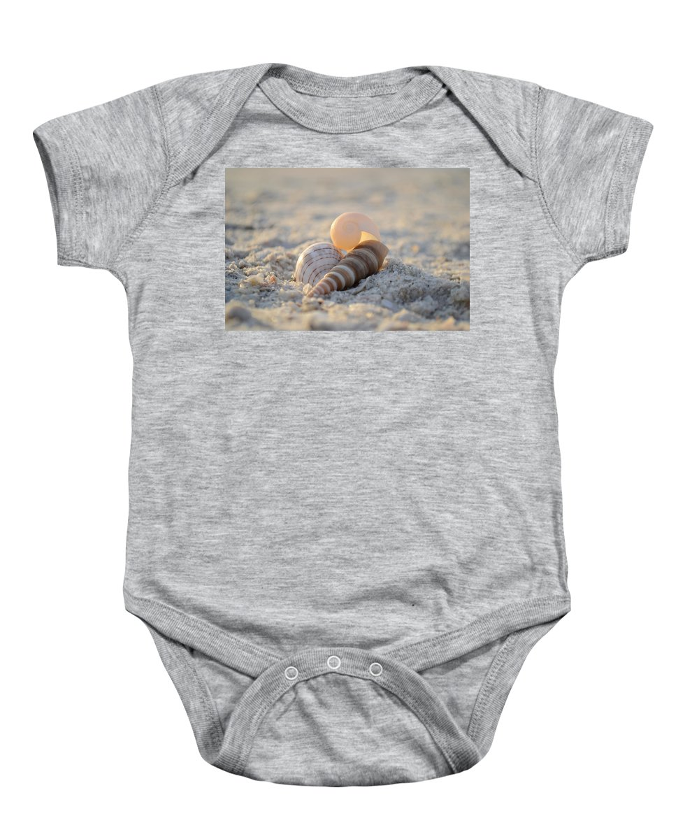 Seashells Baby Onesie featuring the photograph Beginning Again by Melanie Moraga