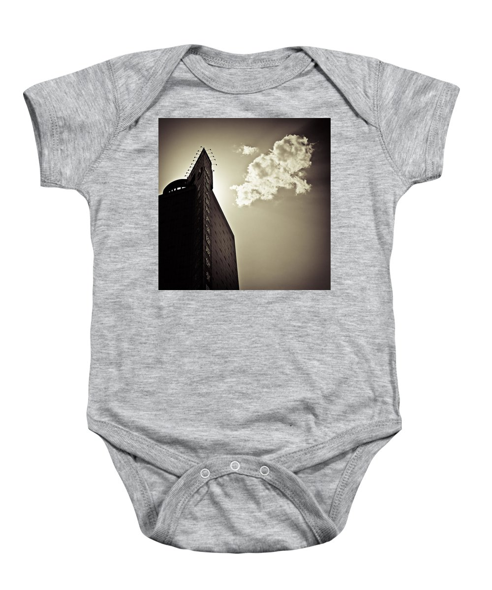Beijing Baby Onesie featuring the photograph Beijing Cloud by Dave Bowman
