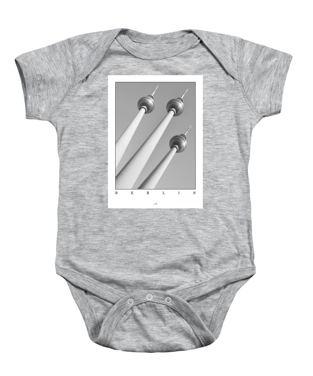 Alex Baby Onesie featuring the photograph Berlin - Television Tower's by ARTSHOT - Photographic Art