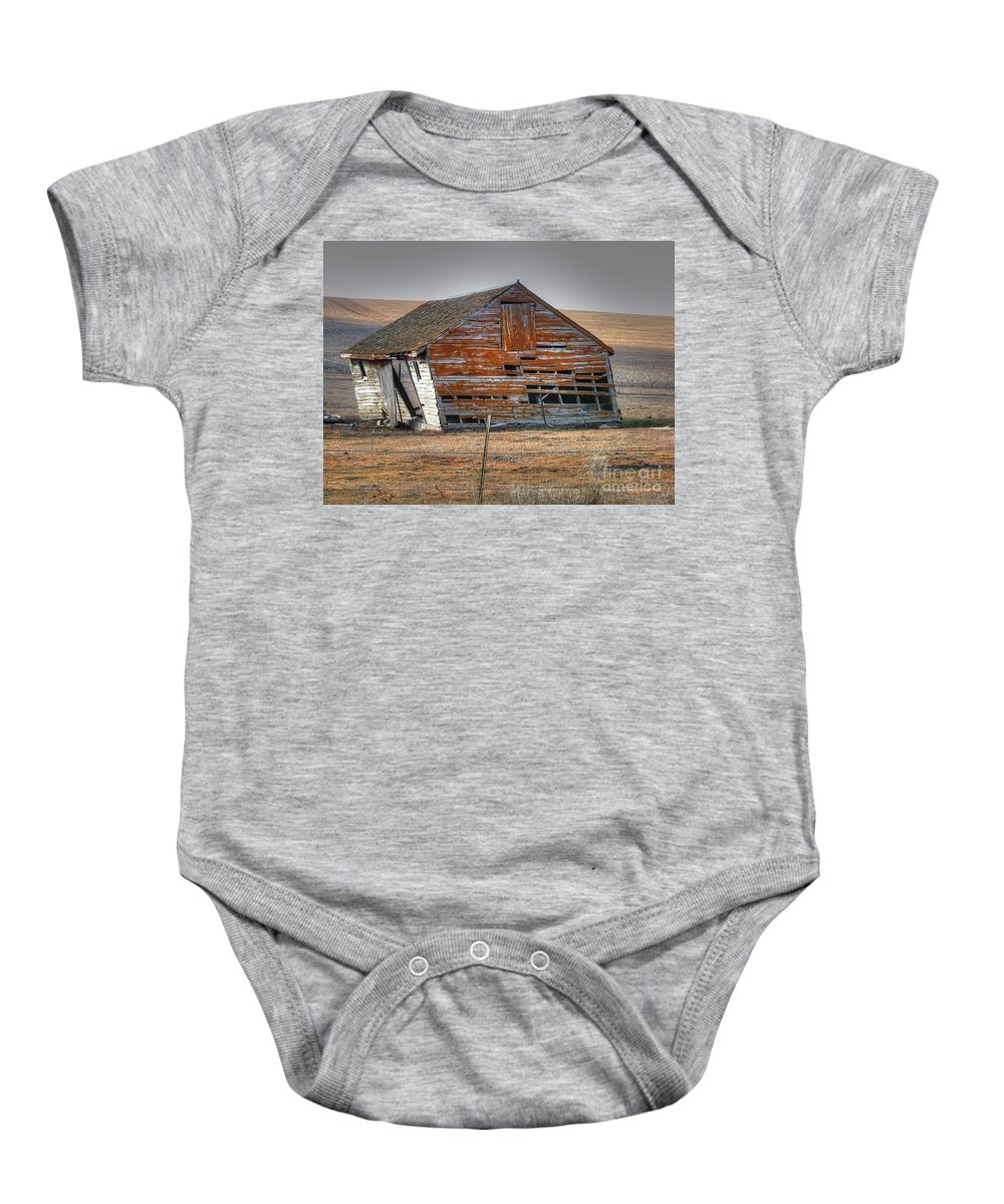 Barn Baby Onesie featuring the photograph Better Days by M Dale