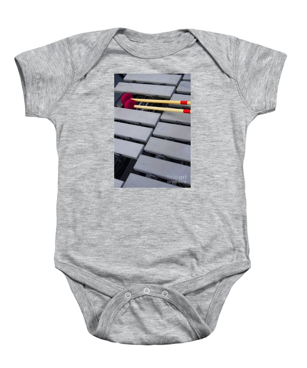 Music Baby Onesie featuring the photograph Between Numbers by Skip Willits