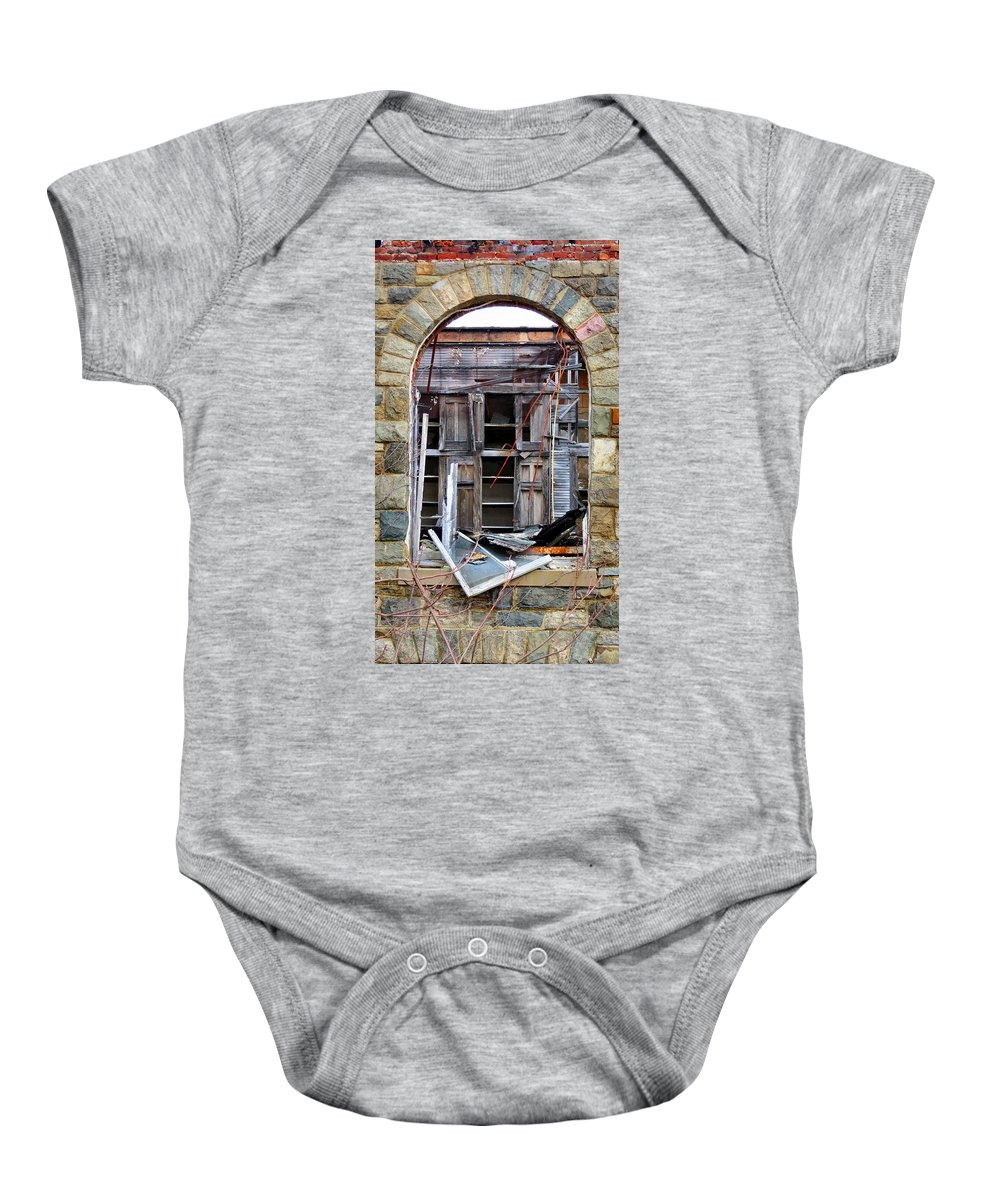 Heart Baby Onesie featuring the photograph Beyond The Glass by Art Dingo