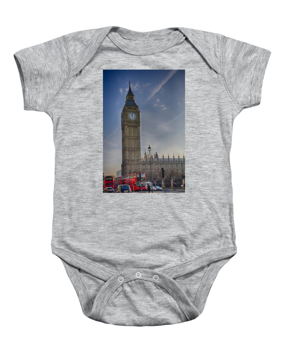 Big Ben Baby Onesie featuring the photograph Big Ben by Leah Palmer