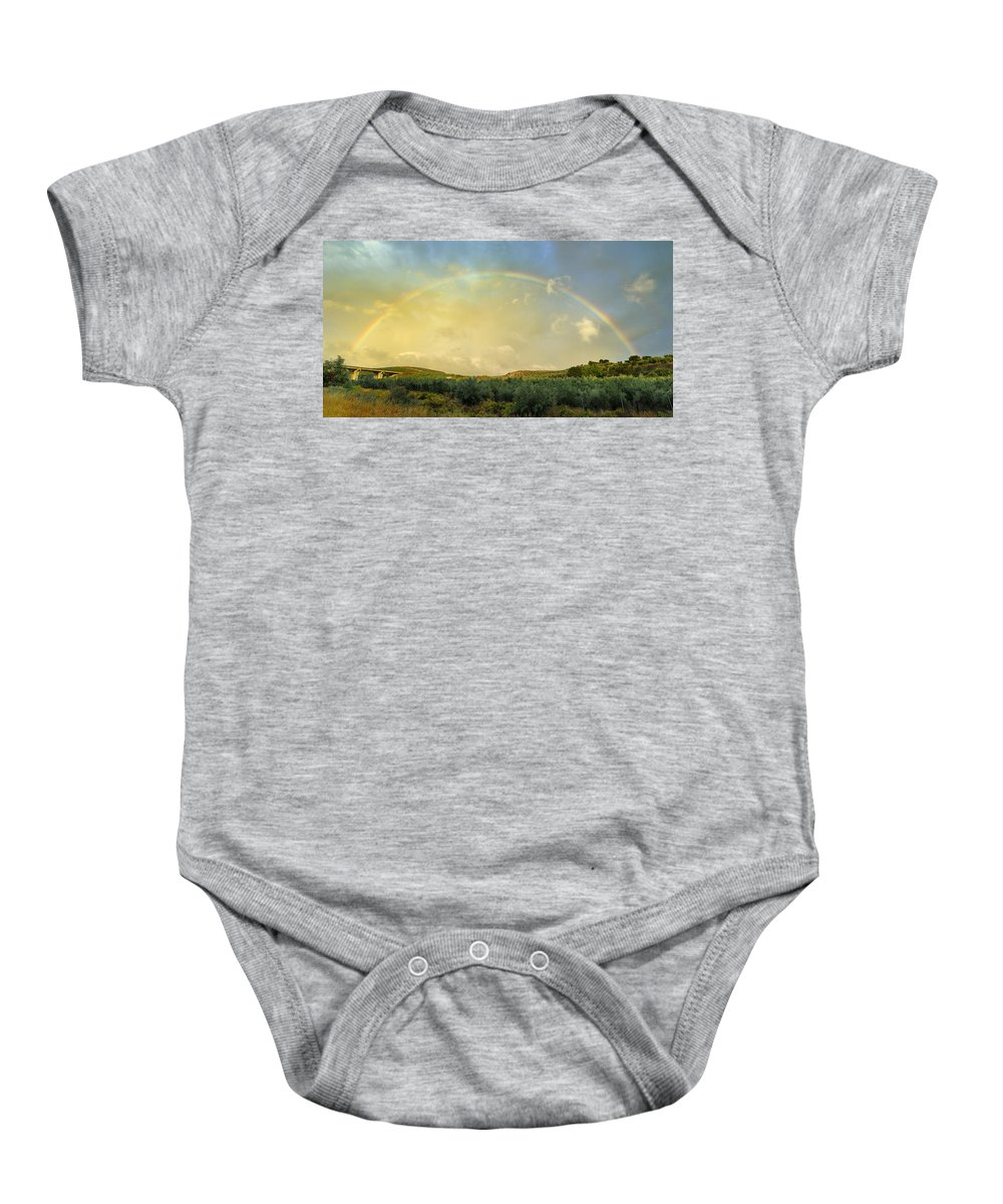 Rainbow Baby Onesie featuring the photograph Big Rainbow by Guido Montanes Castillo