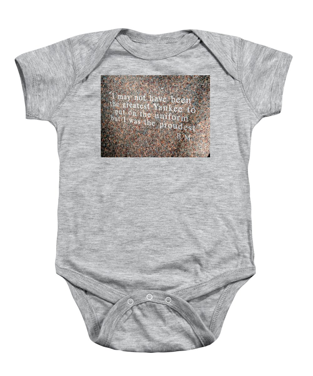 New York Yankees Baby Onesie featuring the photograph Billy Martin by Ed Weidman