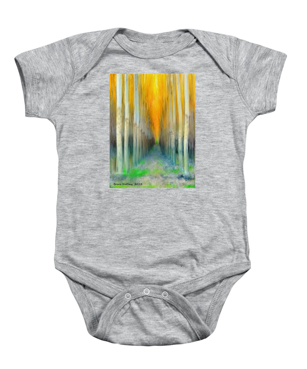 Trees Baby Onesie featuring the painting Birches by Bruce Nutting