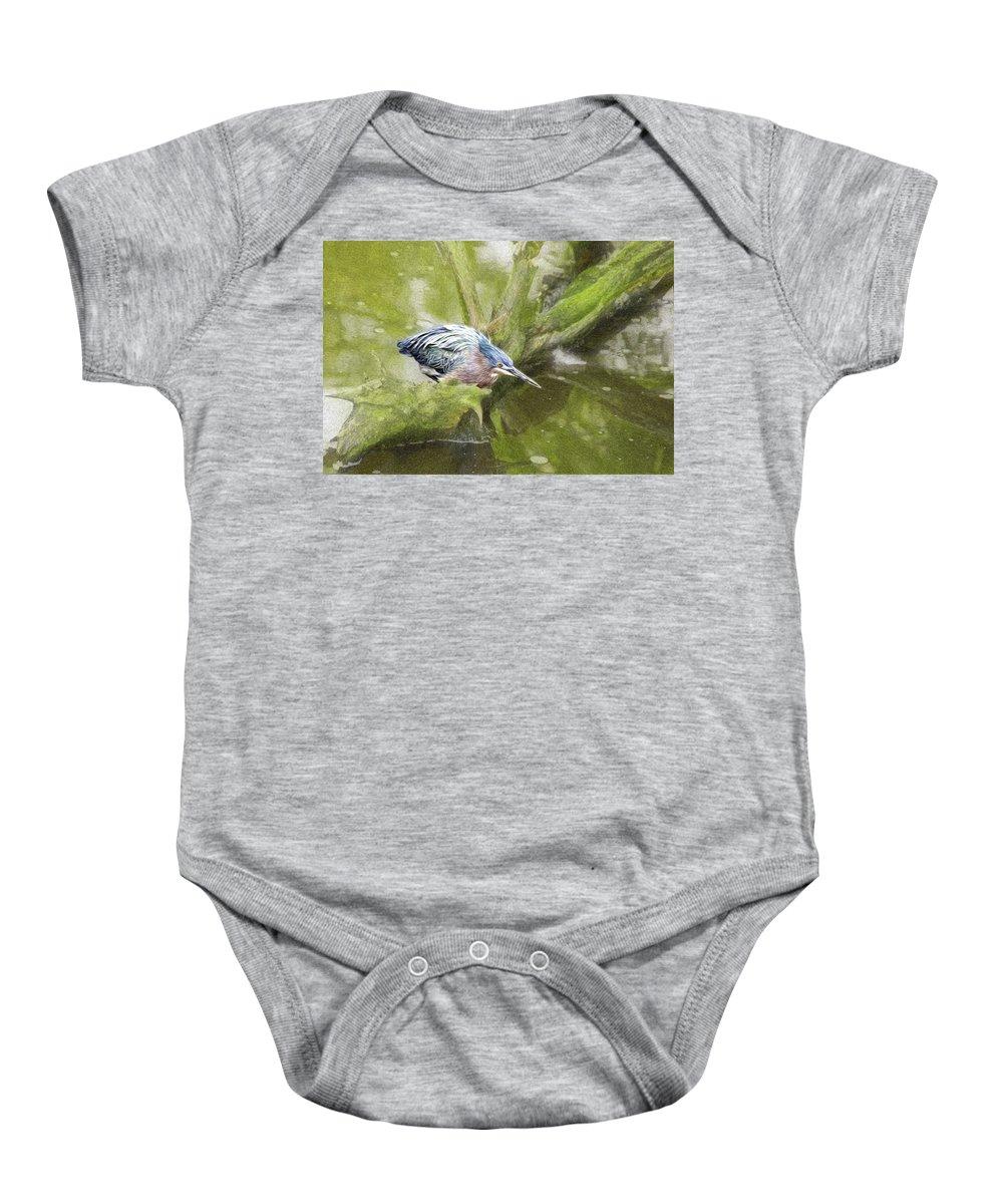 Bird Baby Onesie featuring the photograph Bird Whirl by James Ekstrom
