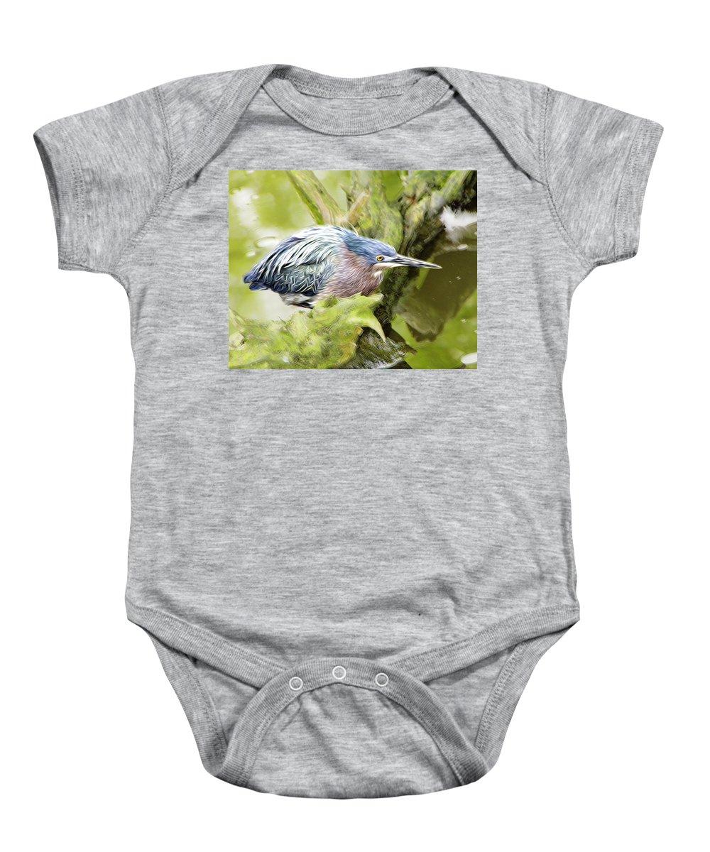 Bird Baby Onesie featuring the photograph Bird Whirl2 by James Ekstrom