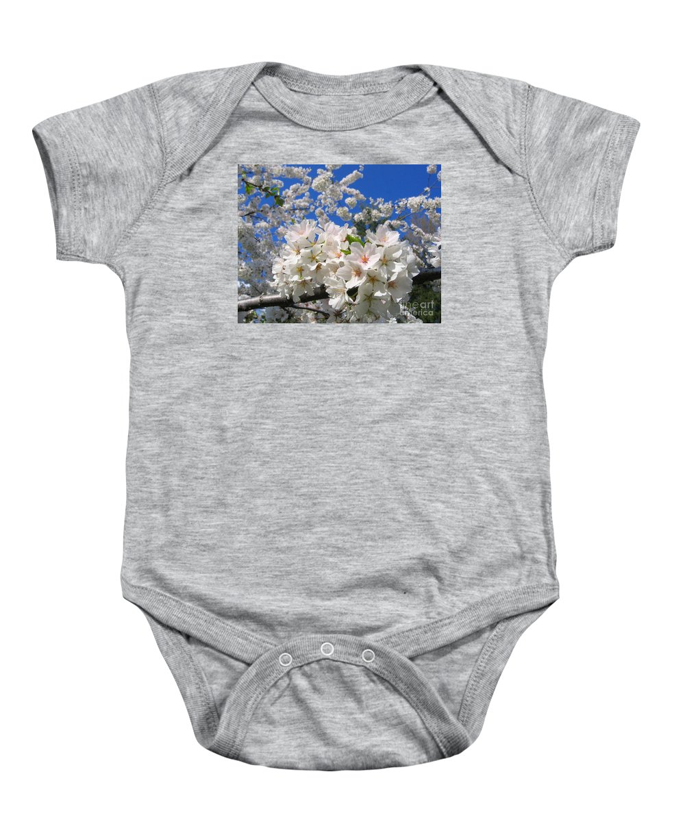 Spring Baby Onesie featuring the photograph Blossoms Of Spring by Ann Horn