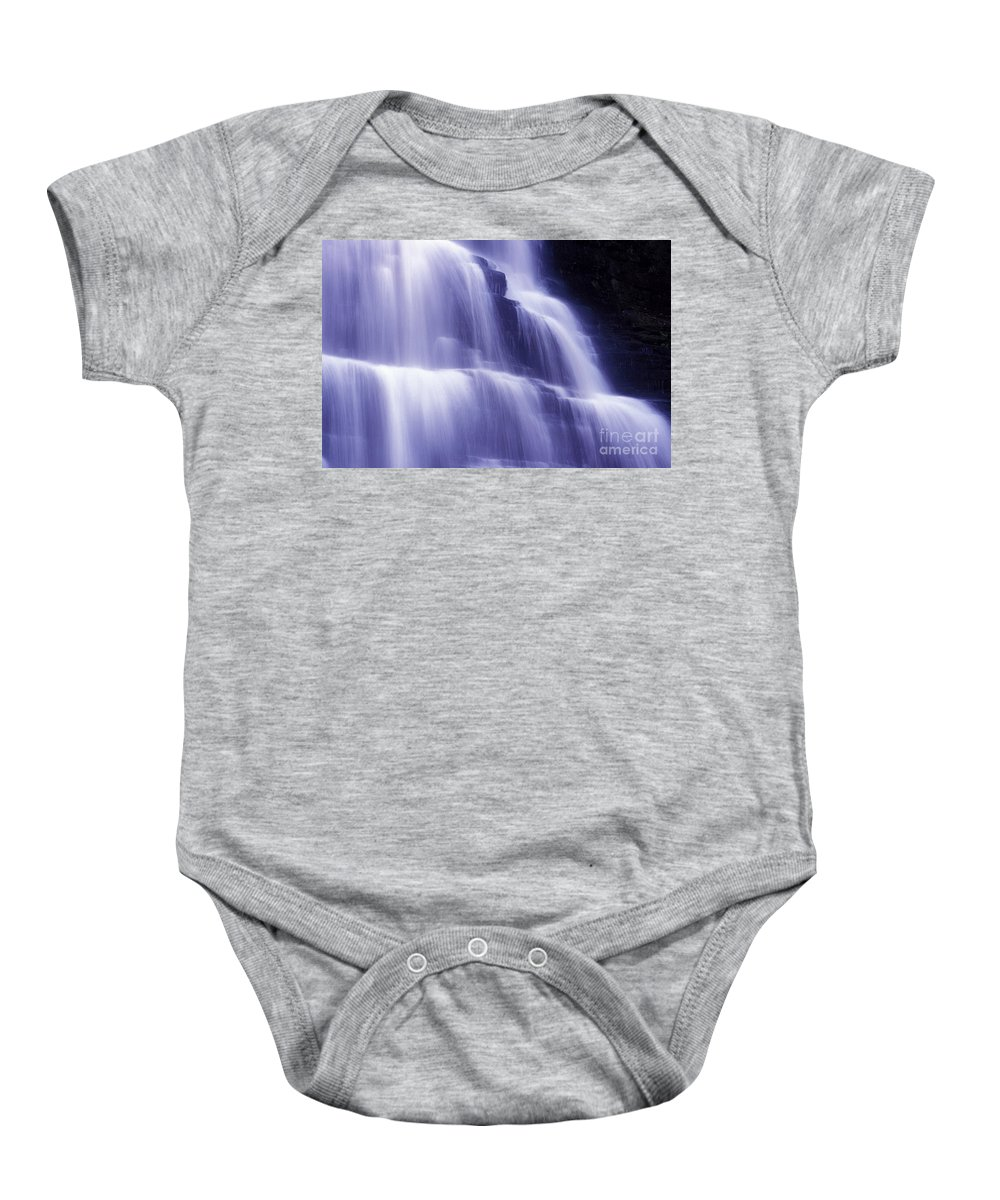 Water Baby Onesie featuring the photograph Blue Falls by Paul W Faust - Impressions of Light