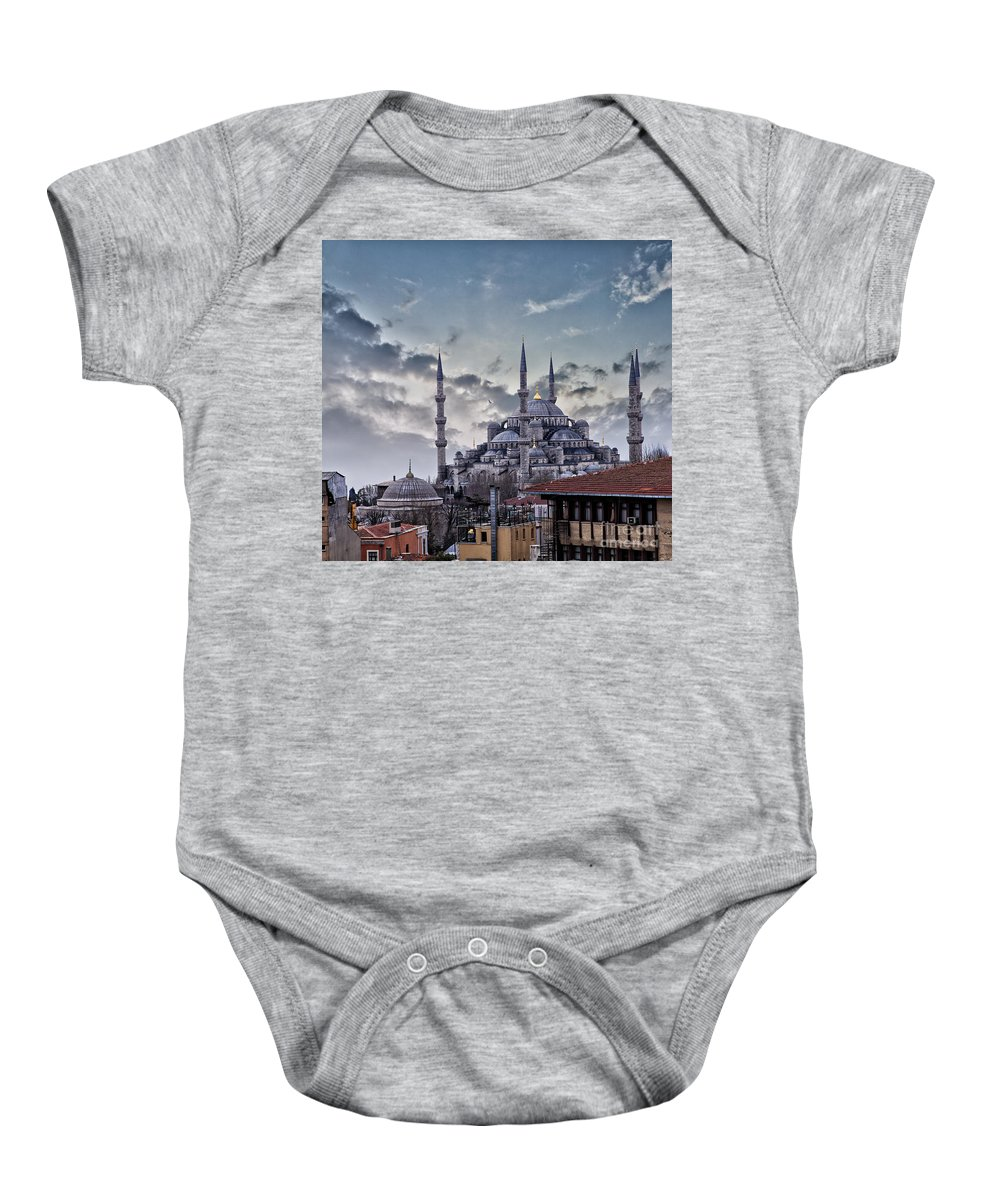 Blue Mosque Baby Onesie featuring the photograph Blue Mosque In Istanbul by Sophie McAulay