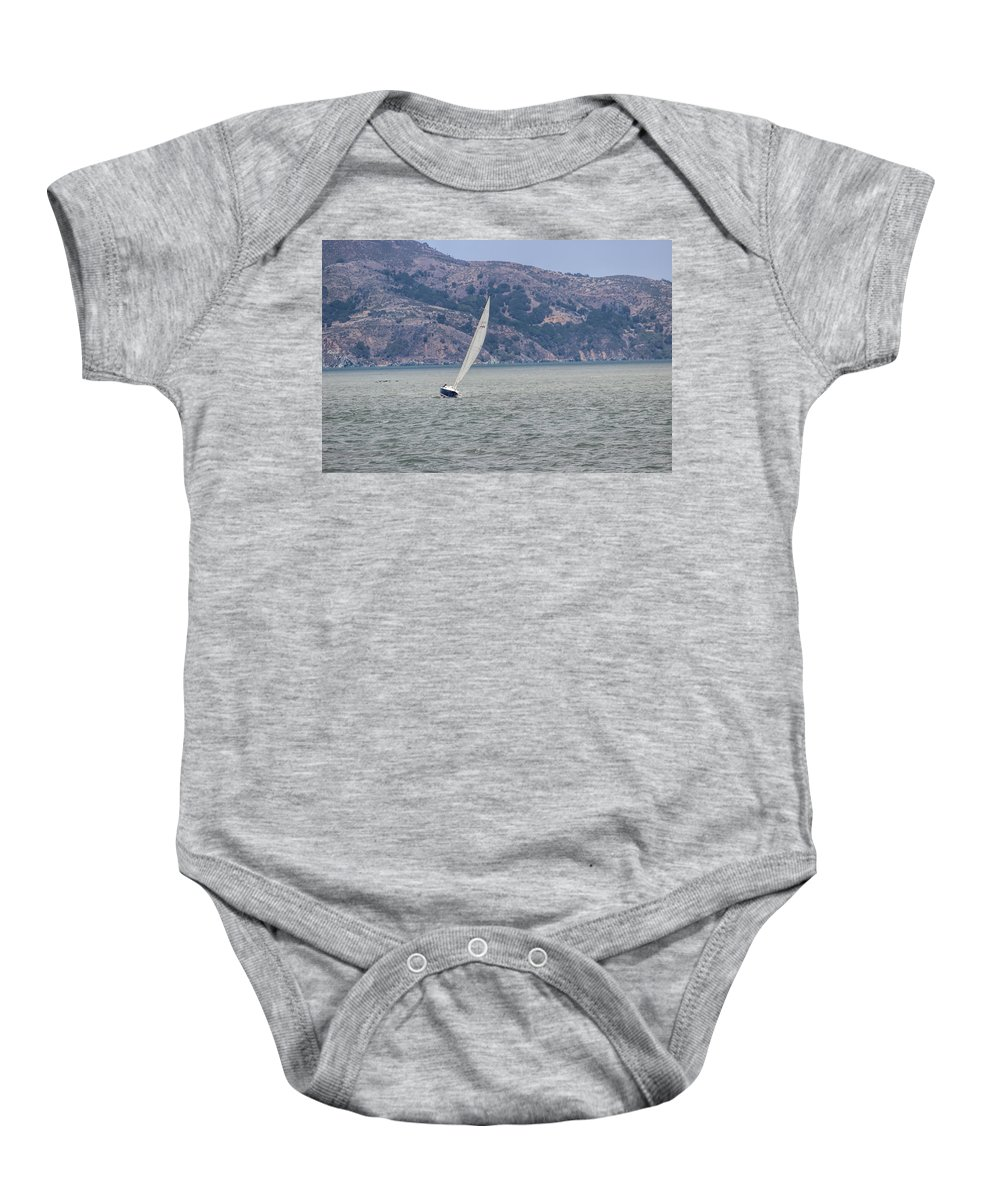 California Baby Onesie featuring the photograph Boat- In Color by Becca Buecher
