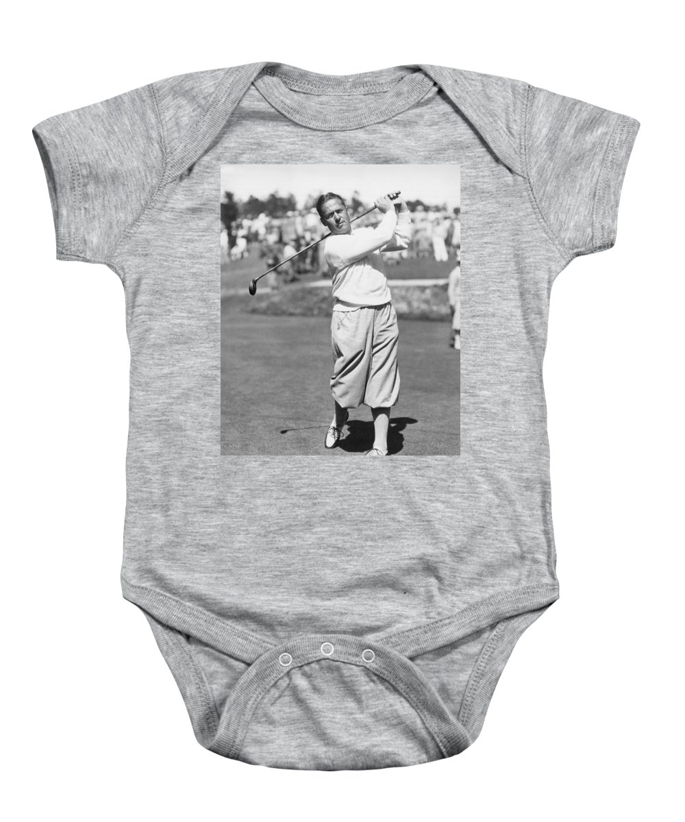 1 Person Only Baby Onesie featuring the photograph Bobby Jones At Pebble Beach by Underwood Archives