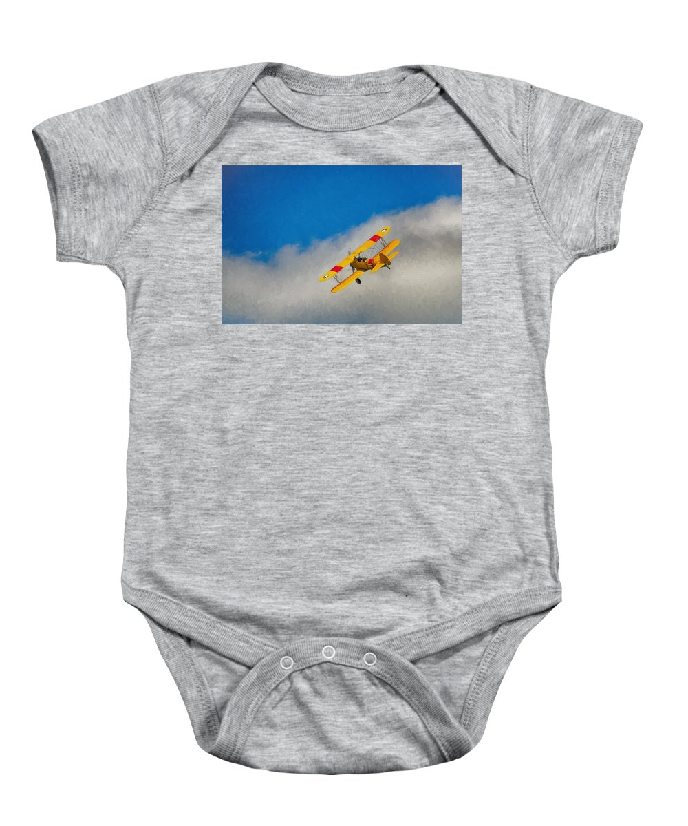 Aviation Baby Onesie featuring the photograph Boeing N2s by Guy Whiteley