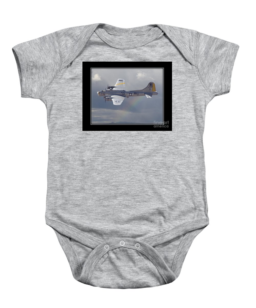 Plane Baby Onesie featuring the photograph Bomber by Larry White