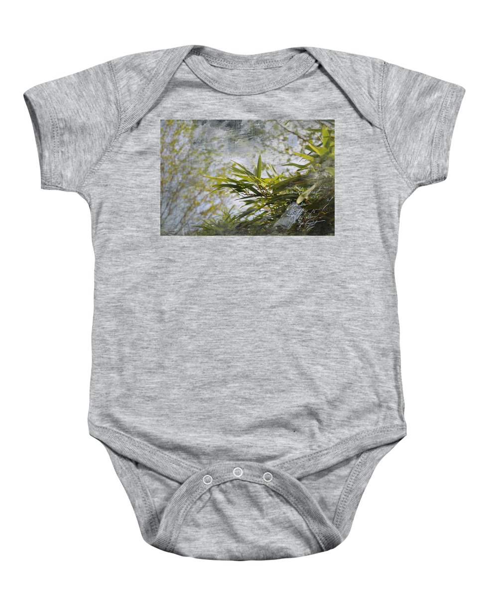 Popular Baby Onesie featuring the photograph Bombou Comme Une Carte Postale by Paulette B Wright