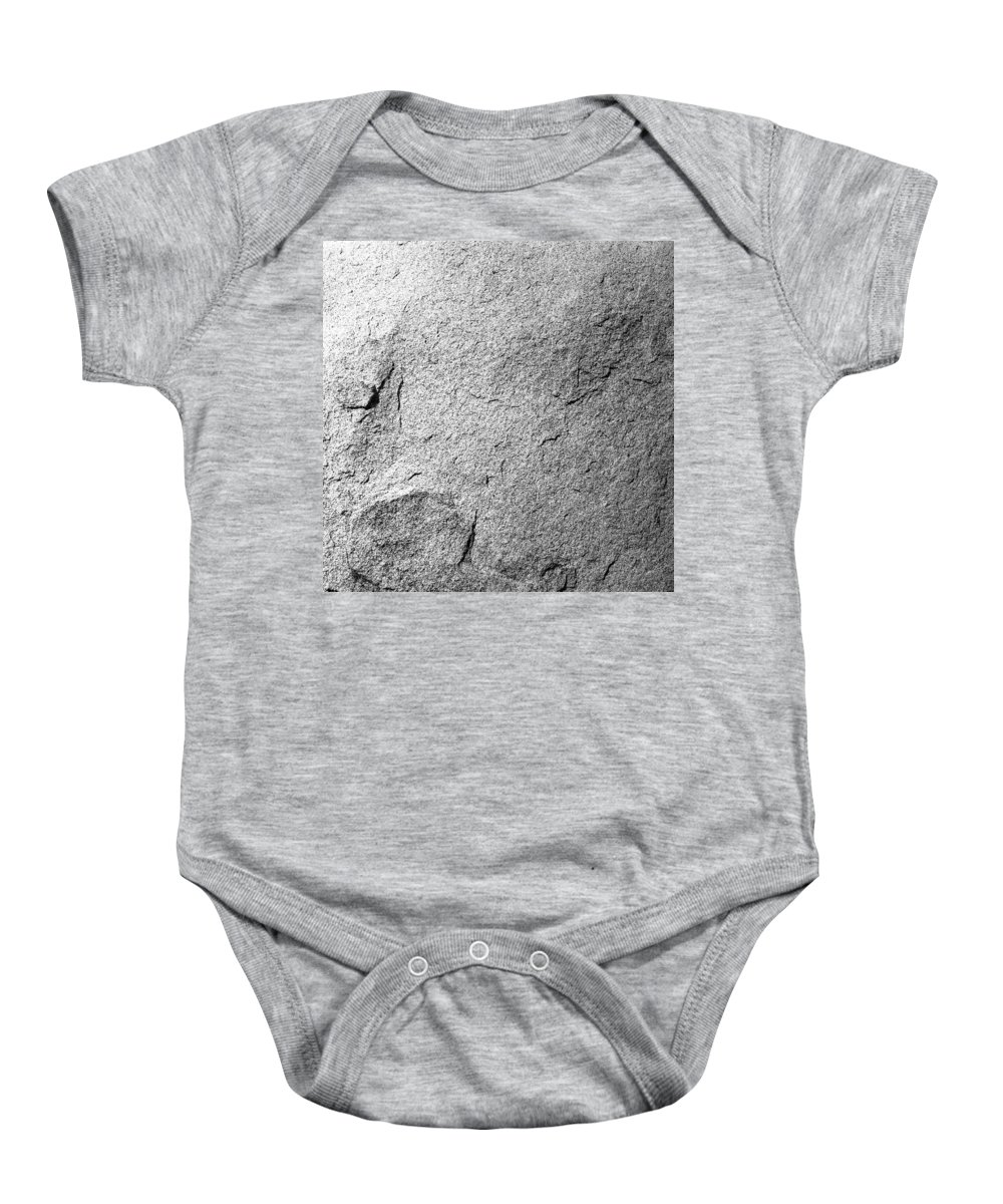 Joshua Tree Baby Onesie featuring the photograph Boulder Detail by Alex Snay