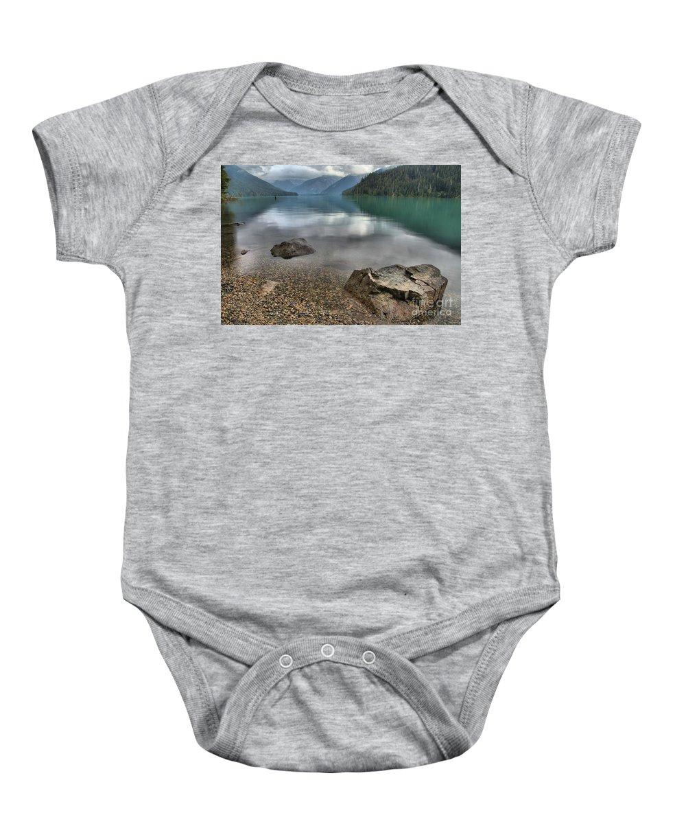 Cheakamus Lake Baby Onesie featuring the photograph Boulders On The Edge Of Cheakamus Lake by Adam Jewell