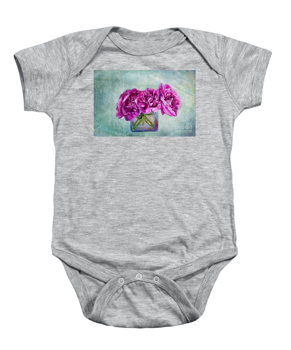 Floral Art Baby Onesie featuring the photograph Bouquet Of Beauty by Andrea Kollo