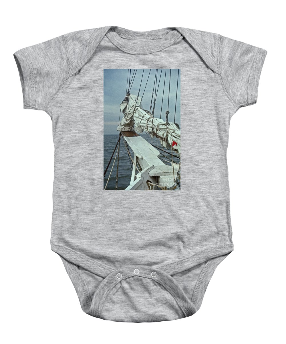 Maritime Baby Onesie featuring the photograph Bowsprit by Skip Willits