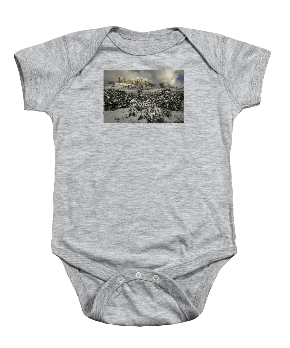 Sedona Baby Onesie featuring the photograph Breaking Through by Brian Oakley Photography