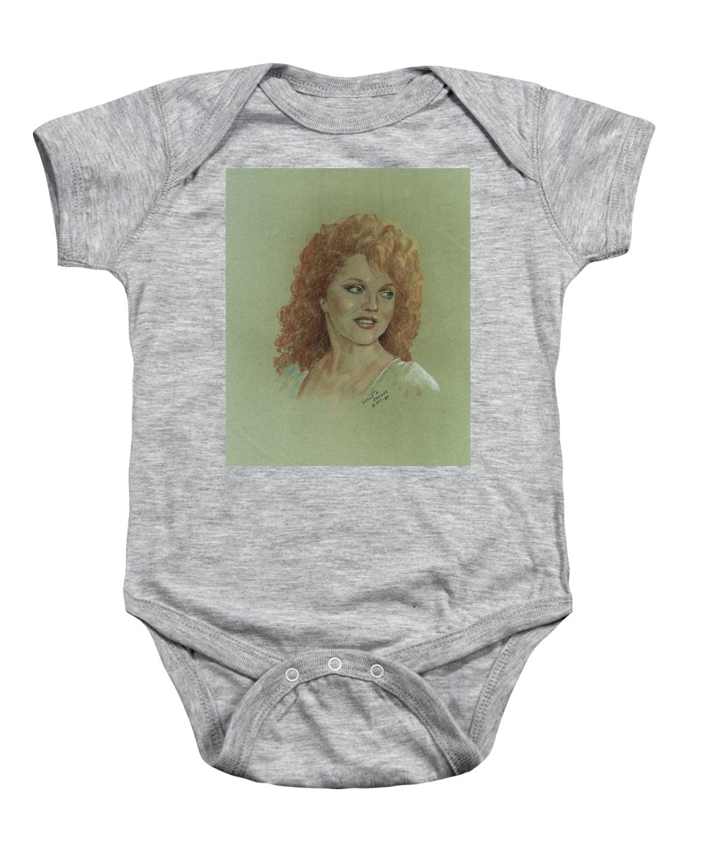 Kentucky Art Baby Onesie featuring the pastel Kentucky Beauty by Duane R Probus