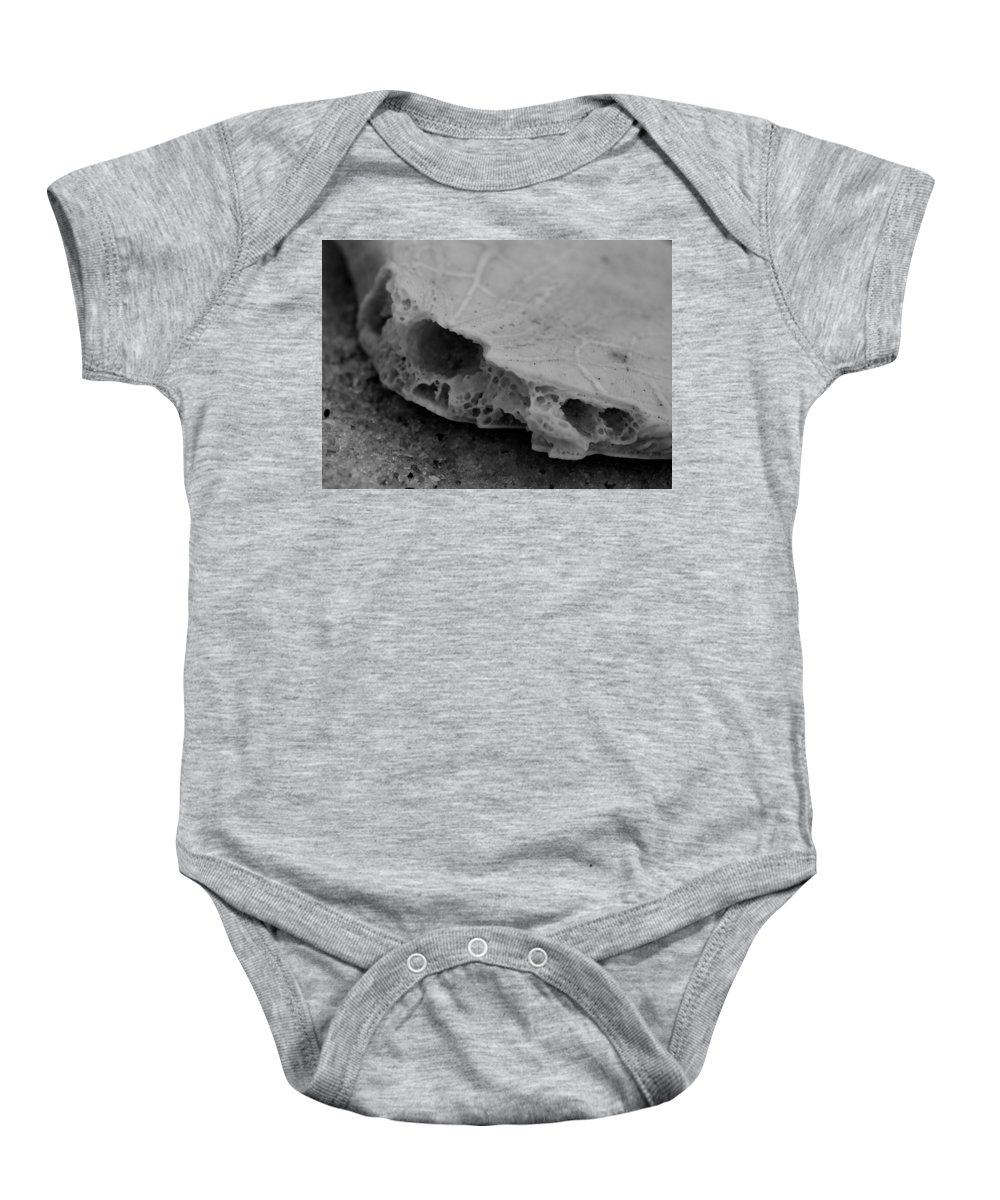 Digital Photograph Baby Onesie featuring the photograph Broken Piece by Laurie Pike