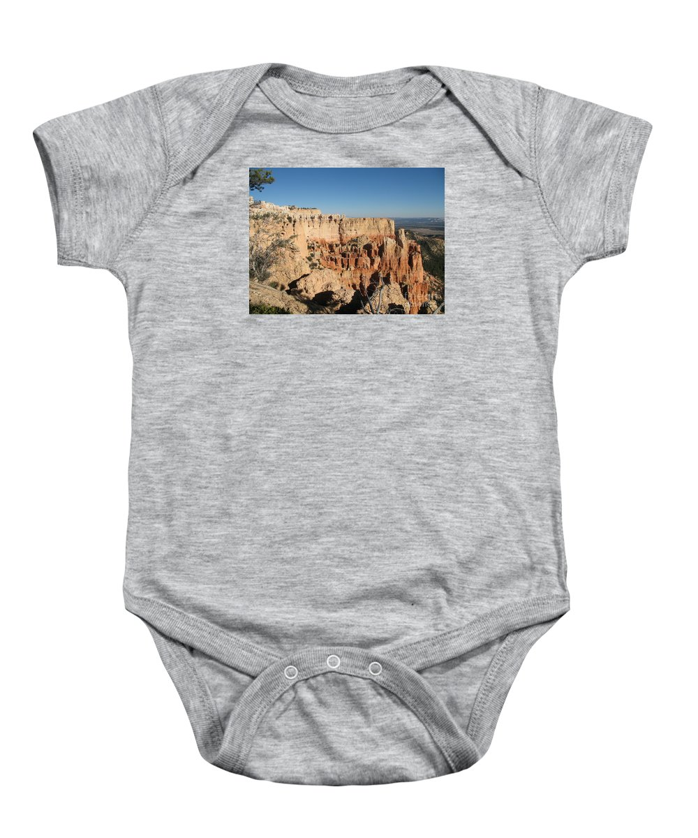 Rocks Baby Onesie featuring the photograph Bryce Canyon Scenic View by Christiane Schulze Art And Photography