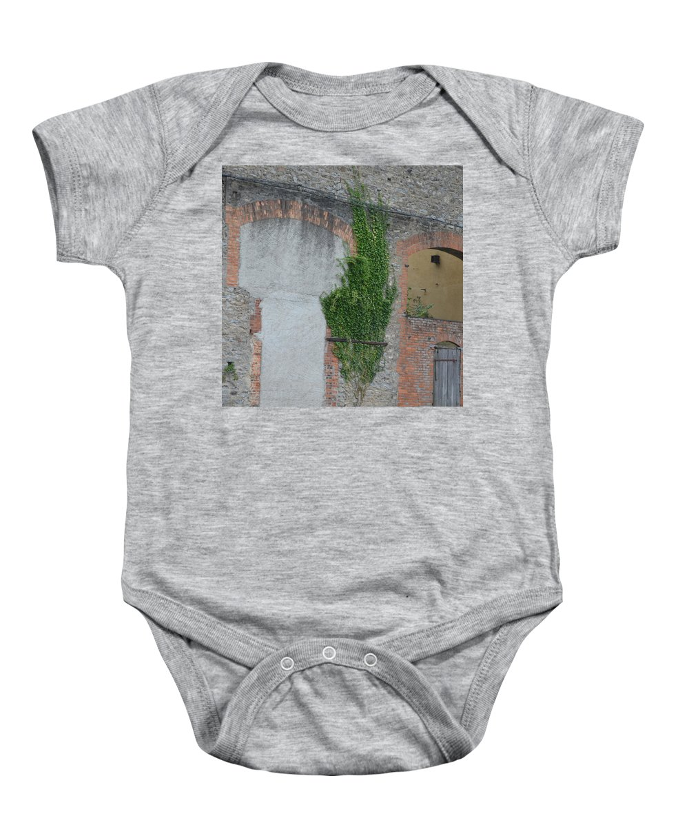 France Baby Onesie featuring the photograph Window With Ivy by Cheryl Miller