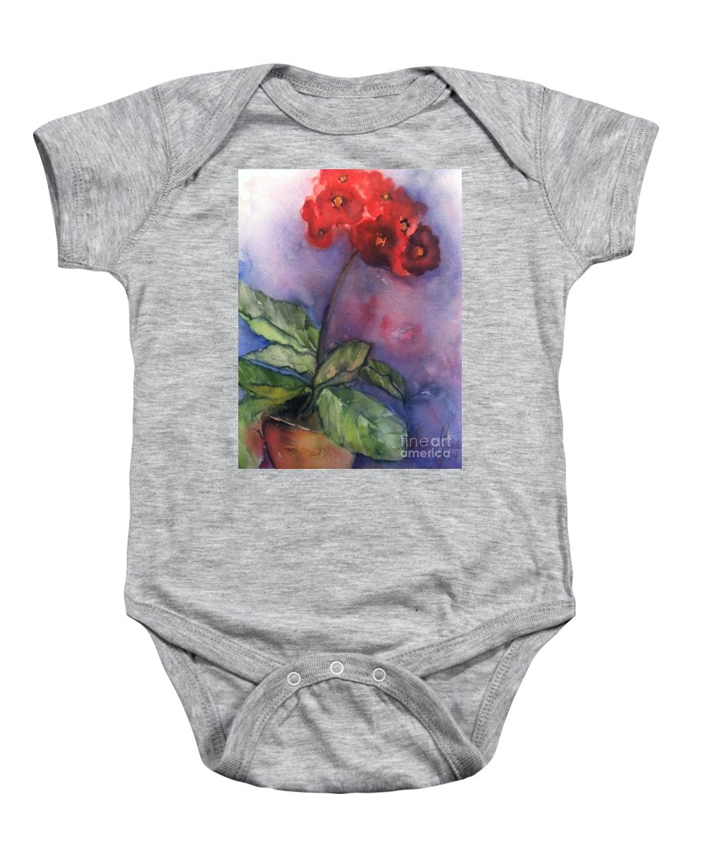 Orchards Baby Onesie featuring the painting Bursting With Pride by Sherry Harradence