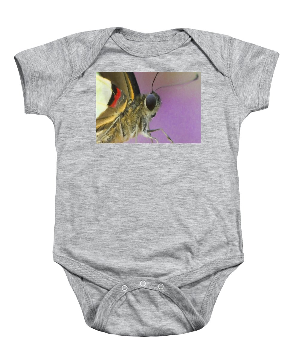 Beautiful Baby Onesie featuring the photograph Butterfly 1 by Ingrid Smith-Johnsen