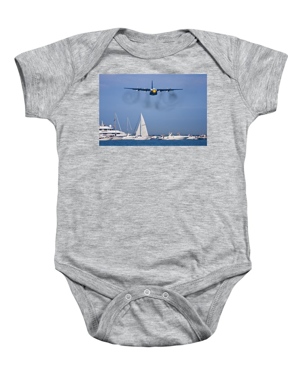 3scape Photos Baby Onesie featuring the photograph Buzzing The Crowd by Adam Romanowicz