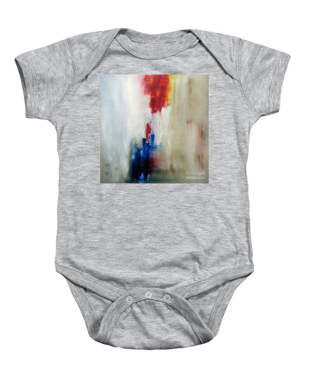 Abstract Painting Baby Onesie featuring the painting C-15 by Jeff Barrett