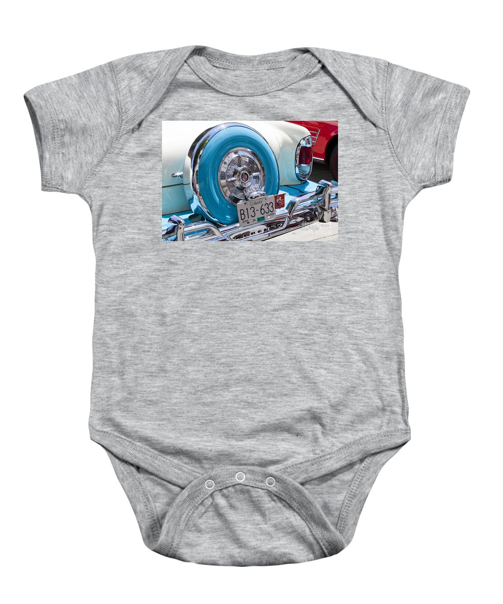 Cadillac Baby Onesie featuring the photograph Caddy by Chris Dutton