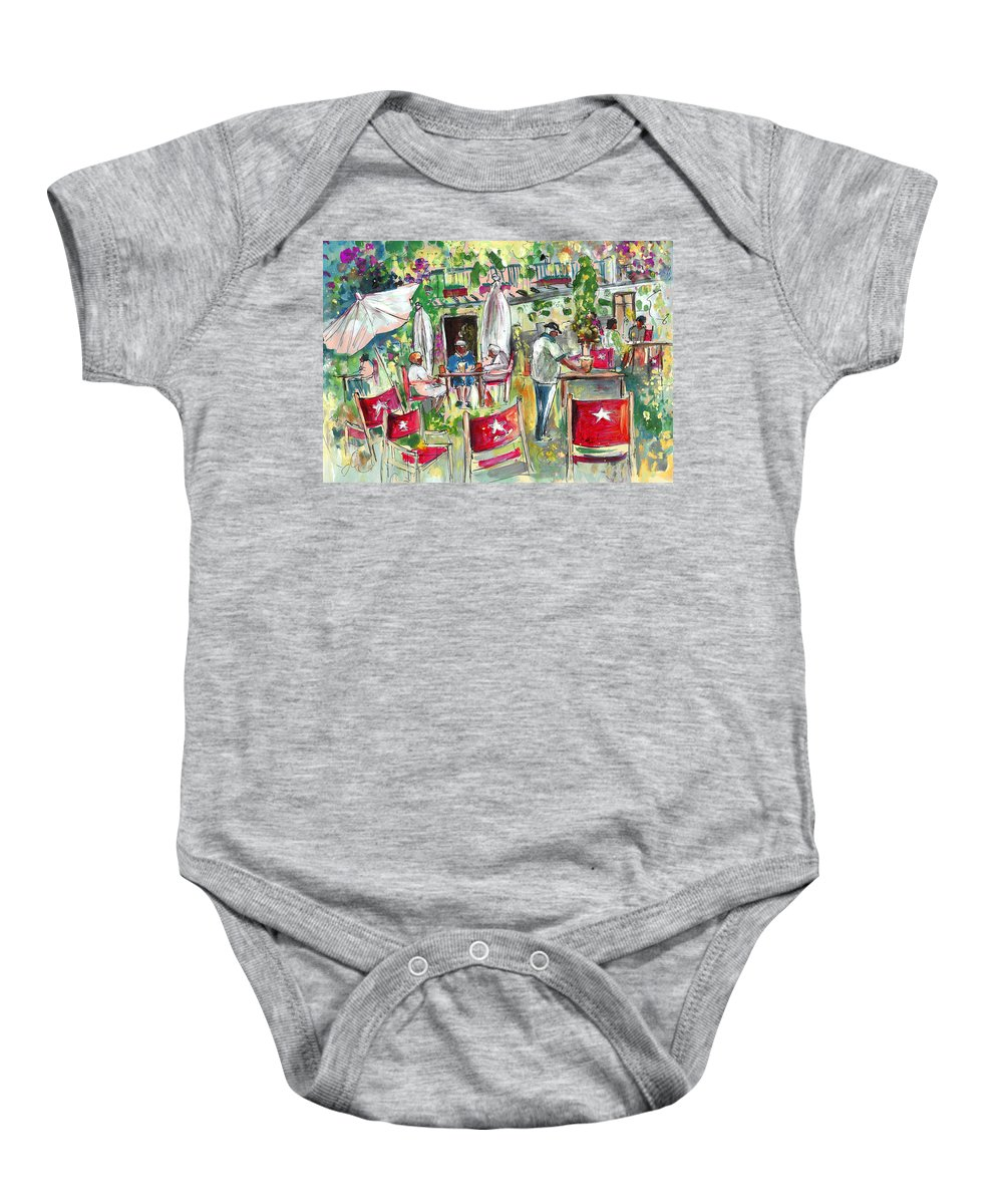 Travel Baby Onesie featuring the painting Cafe In Cazorla by Miki De Goodaboom