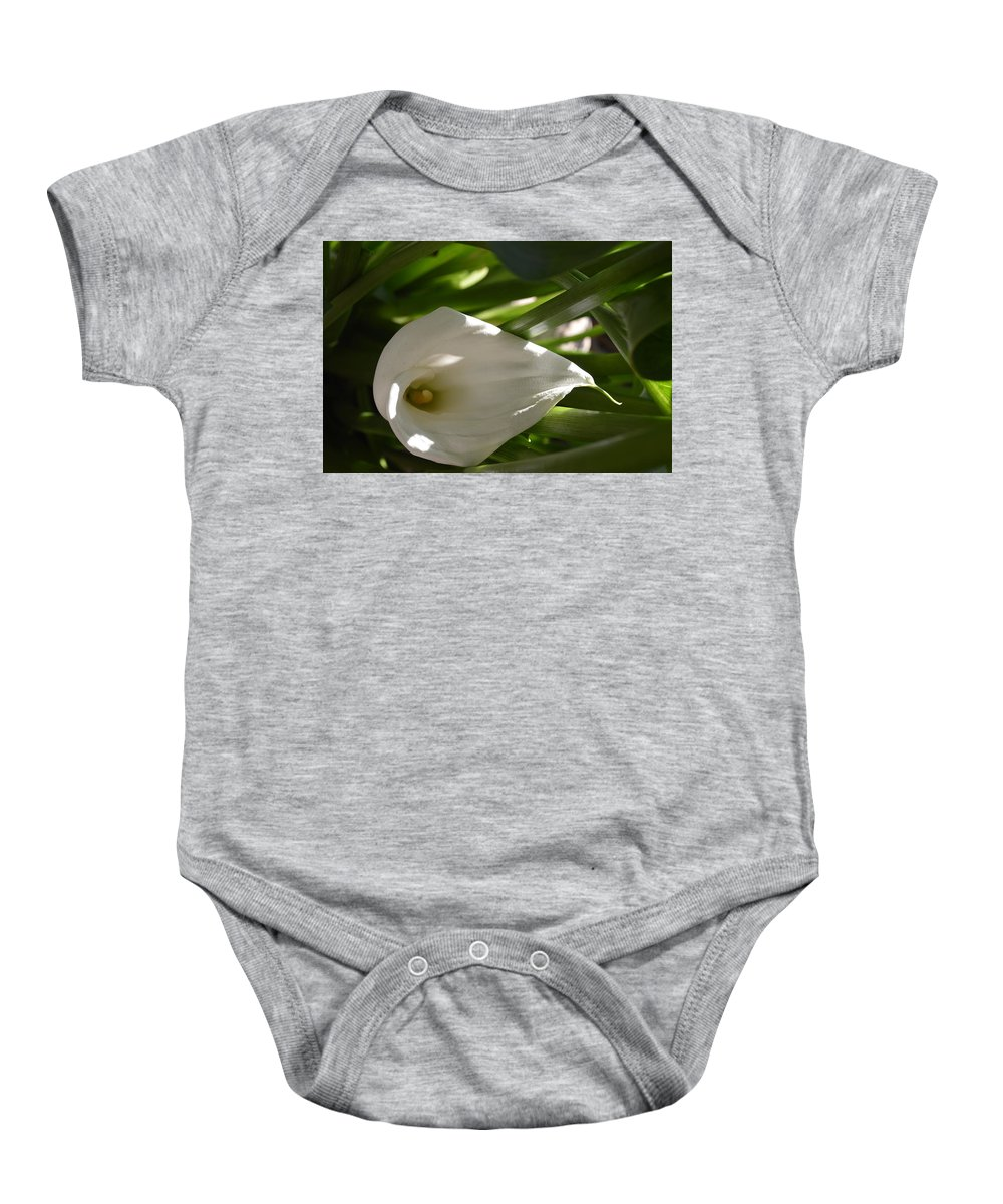 Flowers Baby Onesie featuring the photograph Calla Lily by Terri Louise